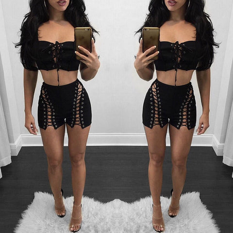 Trisha Lace Up Shorts
