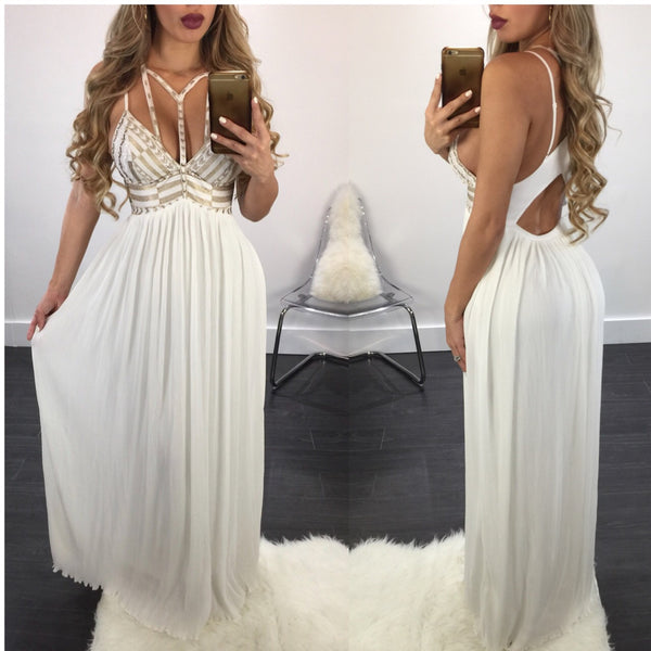 Goddess Gold Cutout Maxi - Diva Boutique Online