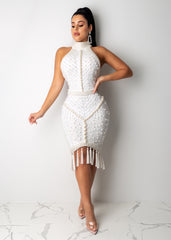 Queen Of Pearls Midi Dress