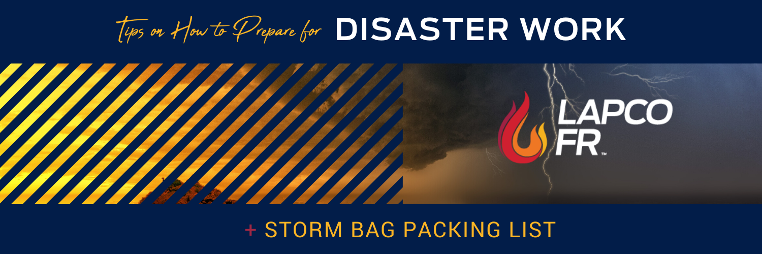 storm bag packing list lapco fr disaster work checklist linemen