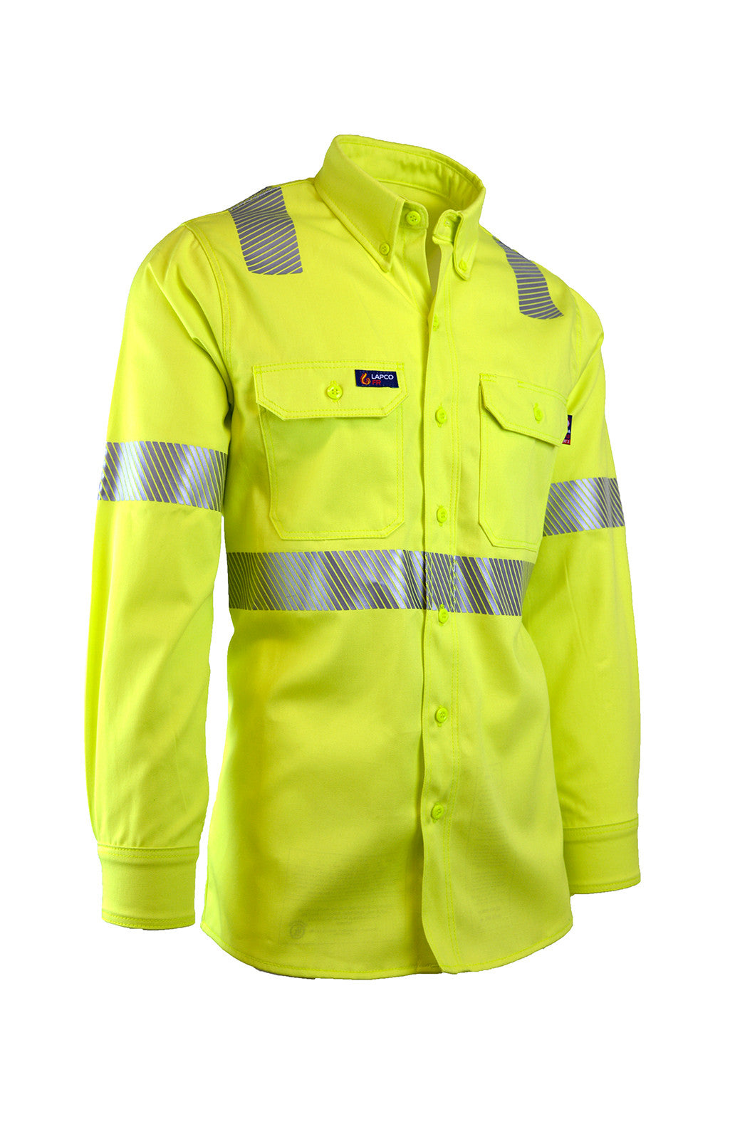7oz. FR Uniform Shirts | Hi-Viz Class 2 | 100% Cotton - www.lapco.com