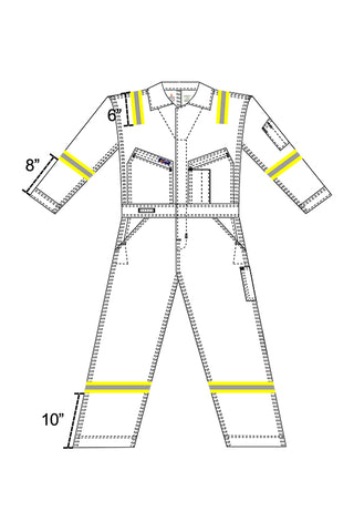 Reflective Tape-Arms, Legs, Shoulders | Coveralls - www.lapco.com