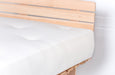 Mattress: Latex & Spring with Natural Materials on a wood base