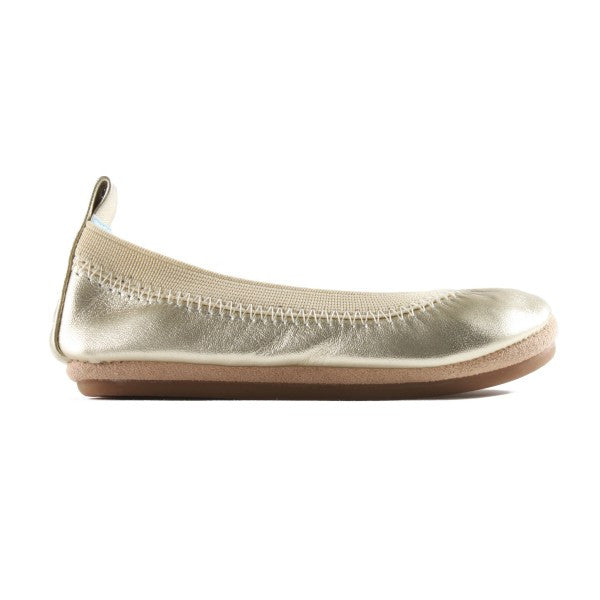 Kids Sammie Metallic Leather In Gold