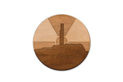 Sunrise at Chernobyl Power Plant / Wooden Magnet