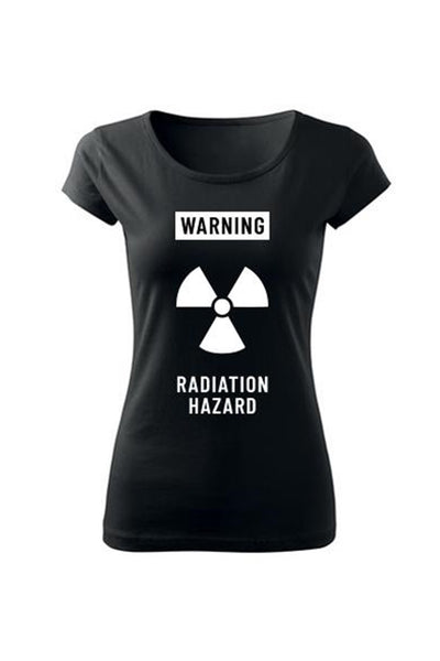 T-shirt WARNING Radiation hazard (female)