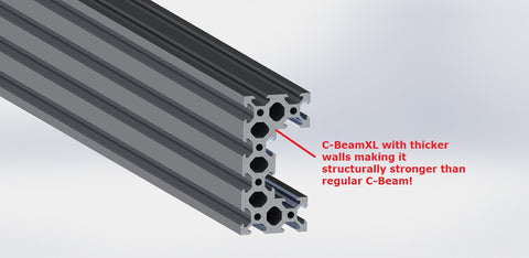 C-BeamXL Aluminum Extrusion 40x80mm - 1500mm Length