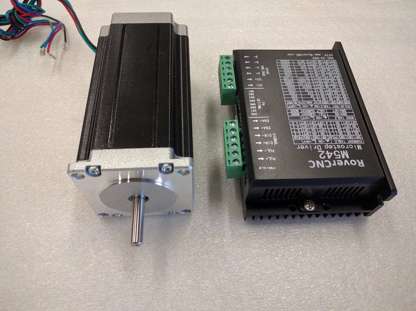 NEMA23 Hybrid Stepper Motor 428oz + QS-404A Digital Driver Kit
