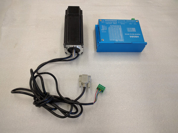 NEMA23 Hybrid Stepper Motor 428oz (with Encoder) + Driver Kit