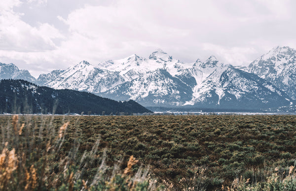 Storm Passing Over The Tetons