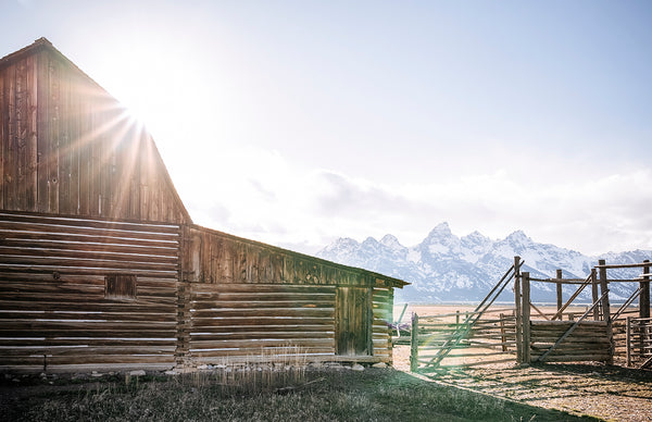 Sunset Over Grand Teton Barn