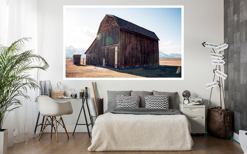 Historic John Moulton Barn in the Grand Tetons
