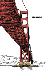 Golden Gate Bridge Illustration