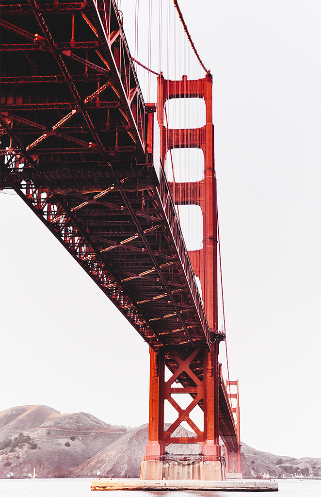 Iconic Golden Gate Bridge in San Francisco