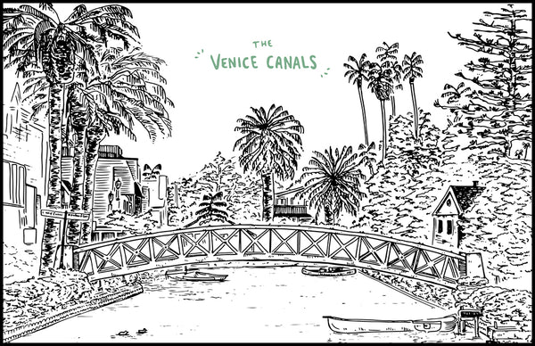 THE VENICE CANALS - Illustration