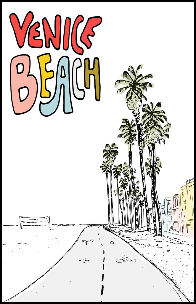 venice beach illustration