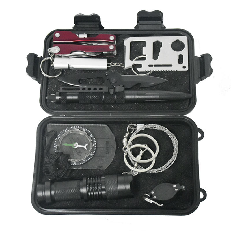 Compact 10 in 1 Survival Gear Kit