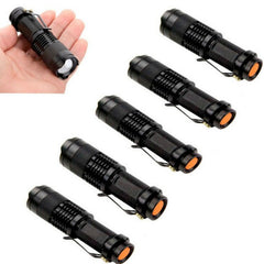 Six Piece Set -  Mini Tactical Flashlights