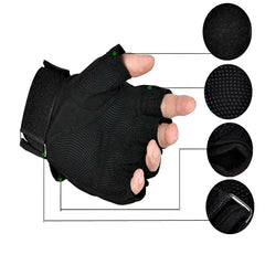 Armor 1/2 Finger Tactical Gloves