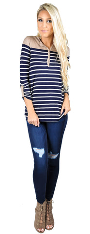 All Aboard Striped Tee