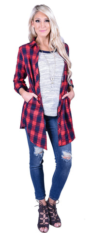 Boyfriend Plaid Tunic
