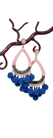 Cotton Candy Earrings - Blue