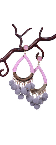 Cotton Candy Earrings - Gray