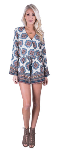 Katy Patterned Romper
