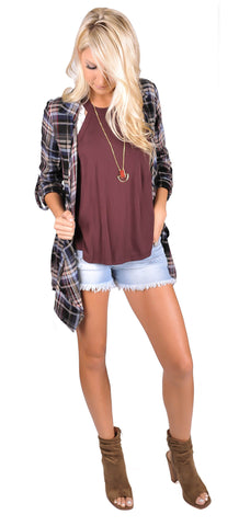Laci Plaid Cardi Jacket
