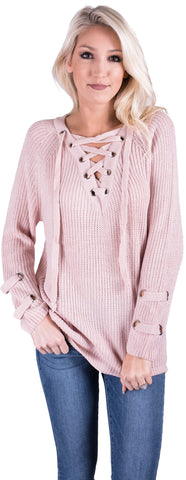 Lula Lace Up Sweater