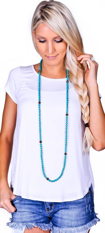 Wooden Bead Necklace - 5 Colors