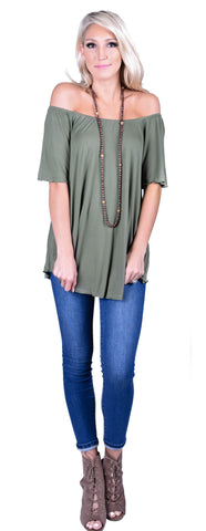 Piko Off The Shoulder Swing Tee- 6 Colors