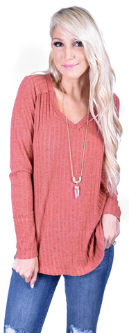 Pumpkin Pie V-Neck Top
