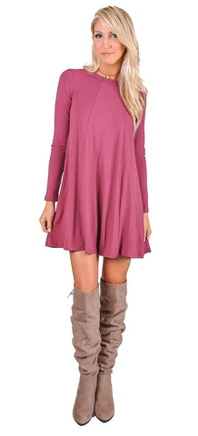Reese Ribbed Swing Dress