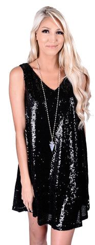 Shake That Sequins Swing Dress