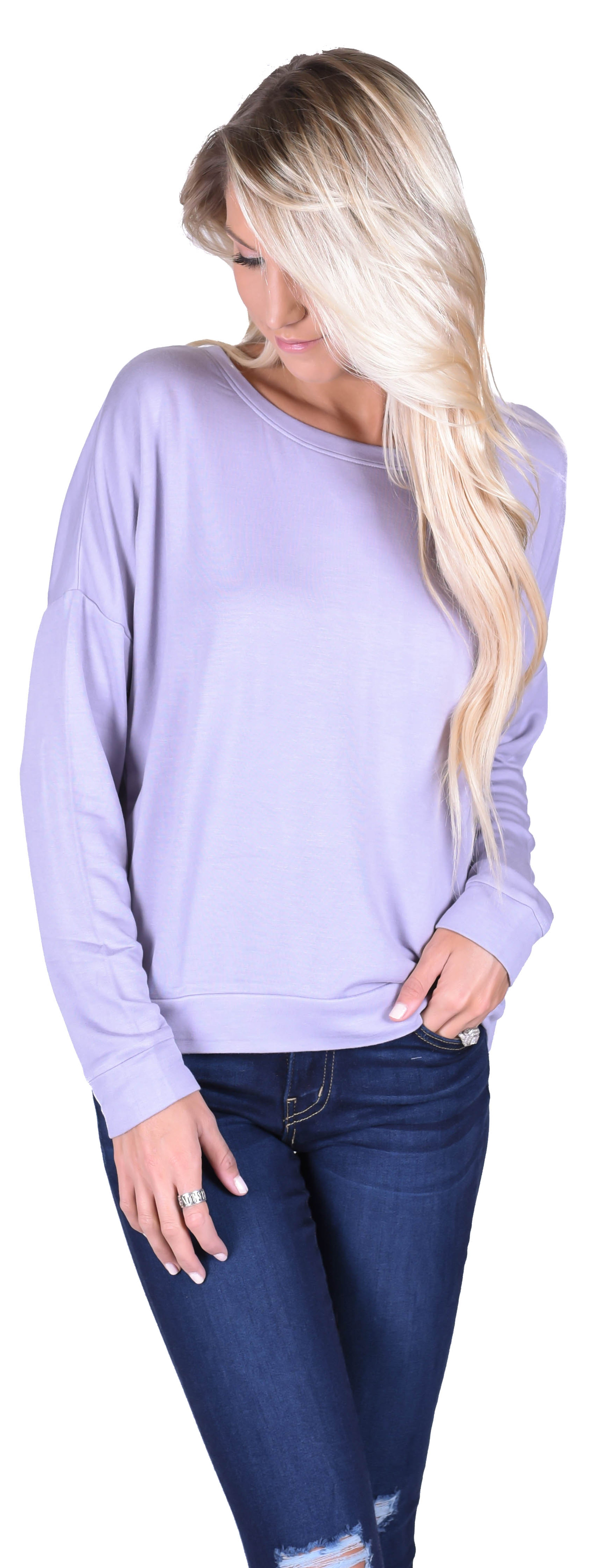 Simple Sweater - Lavender