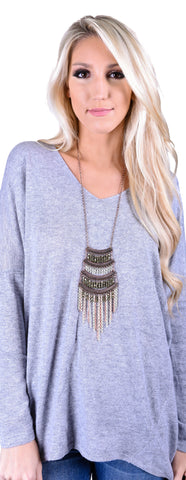 Sophisticated Bohemian Necklace - Olive