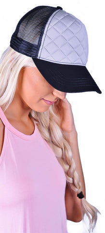 Stitched Up Hat - Grey