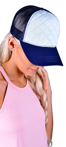 Stitched Up Hat - Blue