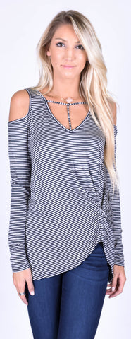 Jersey Ribbed Hooded Top