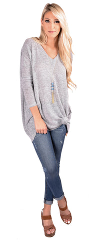 Piko V-Neck Sweater Tunic- 7 Colors