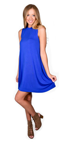 Basic Blue Tank Dress
