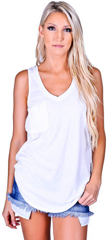 Z Supply V-Neck Pocket Tank - 4 colors