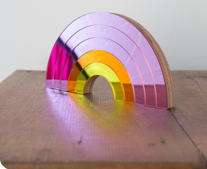Pink Rainbow Mirror by Bride and Wolfe