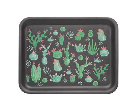 Cacti Willow Wood Tray by Danica Studio