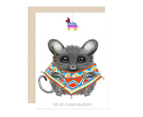 Feliz Cumpleanos Mouse Birthday Card by Dear Hancock