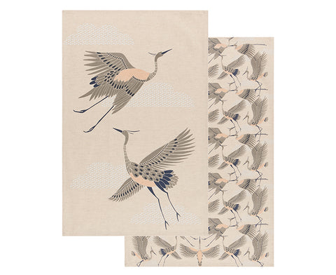 Flight of Fancy Set of Two Dish Towels by Danica Studio