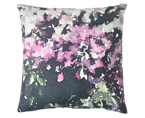 Sophy Floral Pillow in pink by Imogen Heath