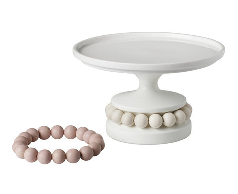 Mamselli Birch and Porcelain Cake Stand by Aarikka