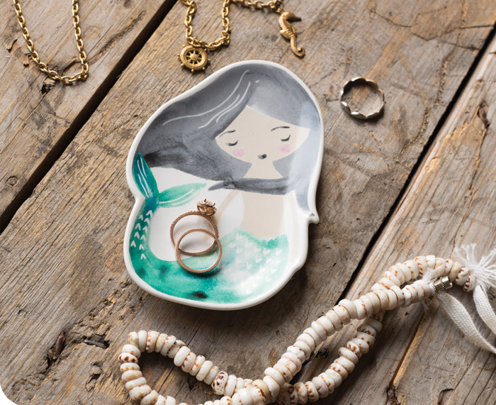 Mermaid Trinket Tray by Danica Studio